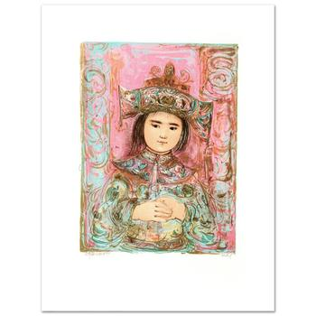"Edna Hibel (1917-2014), ""Child of the East"" Limited Edition Lithograph, Numbered and Hand Signed with Certificate."