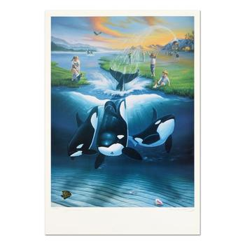 """Keiko's Dream"" Limited Edition Lithograph, Numbered and Hand Signed by Wyland and Jim Warren with Certificate of Authenticity."