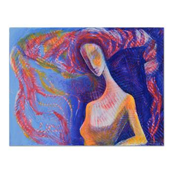 Nadia Volna, Original Acrylic Painting on Gallery Wrapped Canvas, Hand Signed with Certificate of Authenticity.