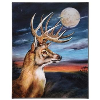 """""""White Tail Moon"""" Ltd Ed Edition Giclee on Gallery Wrapped Canvas by Martin Katon, Numbered and Hand Signed."""