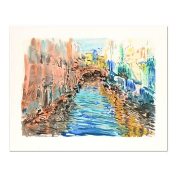 """Marco Sassone, """"Santa Luga"""" Limited Edition Serigraph, Numbered and Hand Signed with Letter of Authenticity."""