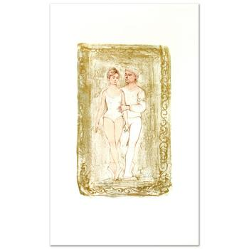 """Edna Hibel (1917-2014), """"Prelude"""" Limited Edition Lithograph, Numbered and Hand Signed with COA of Authenticity."""
