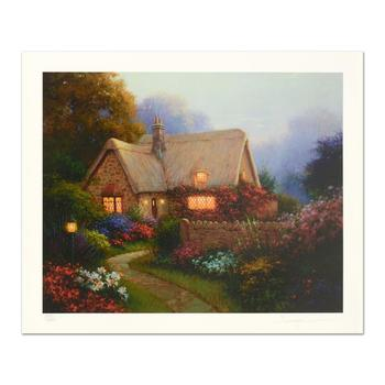 """Sergon, """"Bougainvillea Cottage"""" Limited Edition, Numbered and Hand Signed."""