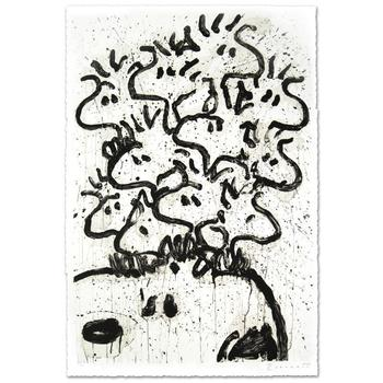 """Tom Everhart, """"Party Crashers"""" Ltd Ed Hand Pulled Original Lithograph (28.5"""" x 42""""), Numbered and Hand Signed w/Cert."""