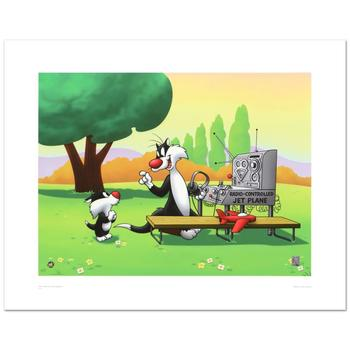 """Warner Bros., """"Sylvester & Son, Radio Controlled Jet"""" Ltd Ed Giclee, Hand No. with Hologram Seal of Authenticity w/Cert."""