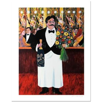 """Guy Buffet, """"Monsieur Henri"""" Limited Edition Serigraph; Numbered and Hand-Signed with Certificate of Authenticity."""