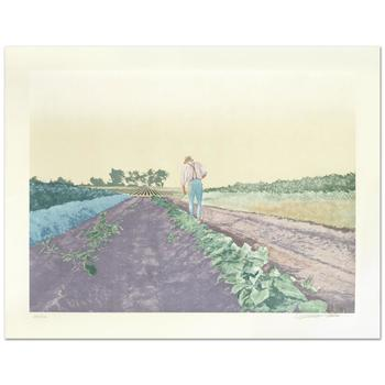 """William Nelson, """"Cabbage Patch"""" Limited Edition Serigraph, Numbered and Hand Signed by the Artist."""