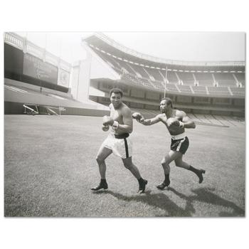 """Muhammad Ali and Ken Norton. Licensed Photograph (40"""" x 30"""")of the Heavyweight Champ and Ken Norton."""