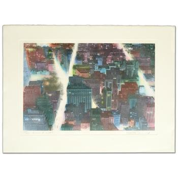 """Elizabeth Lennard, """"Rivers of Light"""" Ltd Ed Etching, Numbered and Hand Signed with Certificate."""