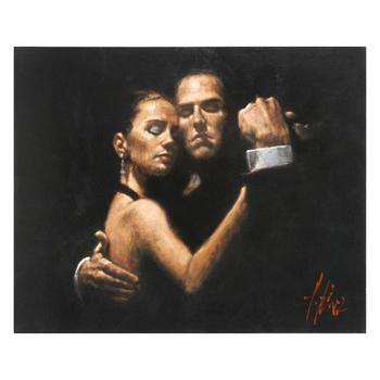 """Fabian Perez, """"Face Of Tango II"""" Hand Textured Limited Edition Giclee on Board. Hand Signed and Numbered."""