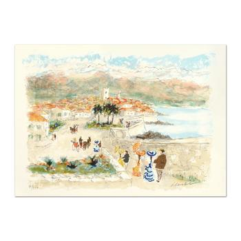 """Urbain Huchet, """"Seaside"""" Limited Edition Lithograph, Numbered and Hand Signed."""