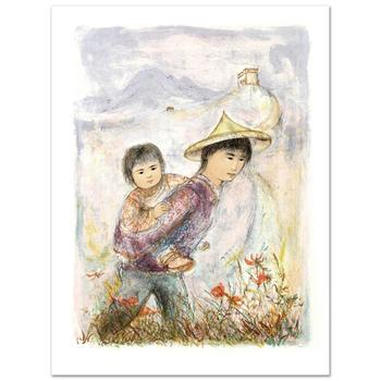 """Edna Hibel (1917-2014), """"The Great Wall"""" Limited Edition Lithograph, Numbered and Hand Signed with Certificate."""