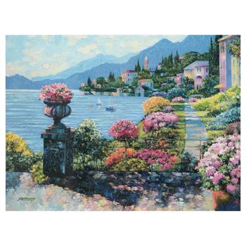 "Howard Behrens (1933-2014), ""Varenna Morning"" Limited Edition on Canvas, Numbered and Signed with Certificate of Authenticity."