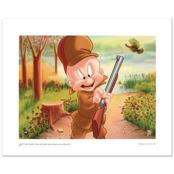 "Warner Bros., ""Elmer Hunting"" Ltd Ed Giclee, Hand Numbered with Hologram Seal of Authenticity & Cert."