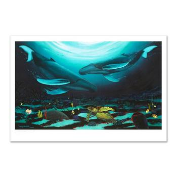 "Wyland, ""Humpback Dance"" Ltd Ed Giclee on Canvas (35"" x 24""), Numbered and Hand Signed with Certificate."
