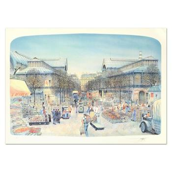 "Rolf Rafflewski, ""Les Halles"" - Limited Edition Lithograph, Numbered and Hand Signed."