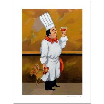 "Guy Buffet, ""Chef Henri"" Limited Edition Serigraph; Numbered and Hand-Signed with Certificate of Authenticity."