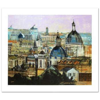 """Zwarenstein, """"Rome Rooftops"""" Ltd Ed Giclee on Canvas, Numbered and Hand Signed with Certificate of Authenticity."""