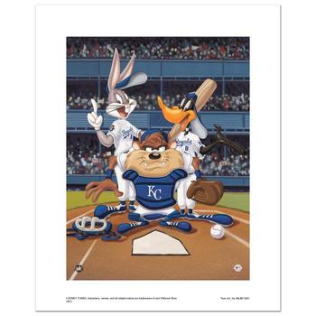 """""""At the Plate (Royals)"""" Numbered Limited Edition Giclee from Warner Bros. with Certificate of Authenticity."""