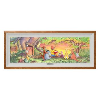 """""""Sunset in the Woods"""" Framed Limited Edition Canvas by Michelle St. Laurent from the Disney Fine Art Silver Series; with COA."""