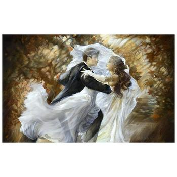"Lena Sotskova, ""Together Forever"" Artist Embellished Limited Edition Giclee on Canvas with COA."