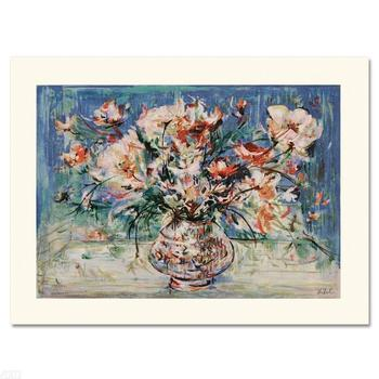 "Edna Hibel (1917-2014), ""Vita's Bouquet"" Limited Edition Serigraph, Numbered and Hand Signed with Certificate."