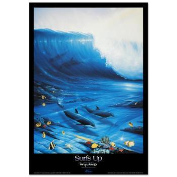 "Wyland, ""Surfs Up"" Poster."