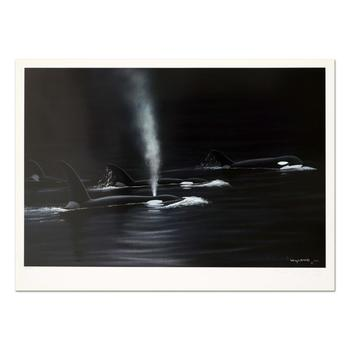 """Wyland, """"Ancient Orca Seas"""" Limited Edition Lithograph, Numbered and Hand Signed with Certificate of Authenticity."""