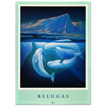 "Wyland, ""Belugas the White Whales"" Poster."