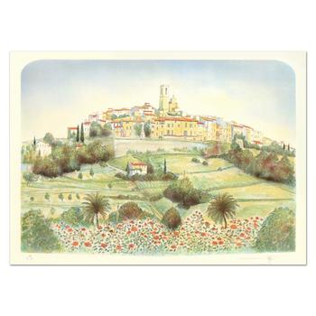 """Rolf Rafflewski, """"St. Paul De Vence """" - Limited Edition Lithograph, Numbered and Hand Signed."""