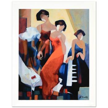"""Yunessi Gholam, """"Musical Trio"""" Limited Edition Giclee on Canvas, Numbered Inverso and Hand Signed with Certificate."""