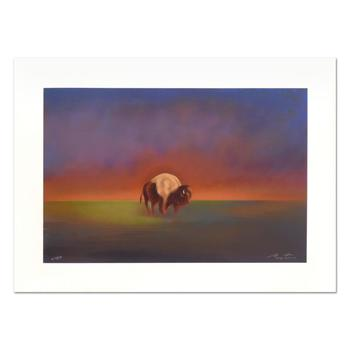"""John Axton, """"Dakota Elder"""" Limited Edition Serigraph, Numbered and Hand Signed with Certificate of Authenticity."""