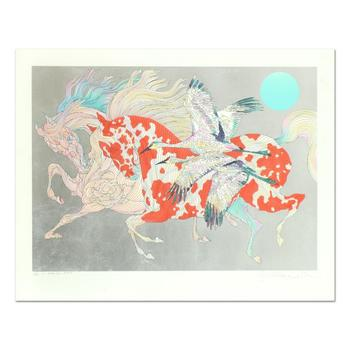 """Guillaume Azoulay, """"It Takes Two"""" Limited Edition Serigraph with Hand Laid Silver Leaf, Numbered and Hand Signed with LOA."""