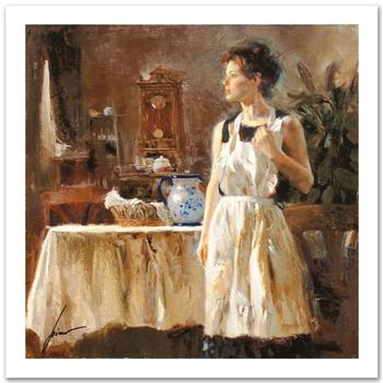 """Pino (1939-2010) """"Sunday Chores"""" Limited Edition Giclee. Numbered and Hand Signed; Certificate of Authenticity."""