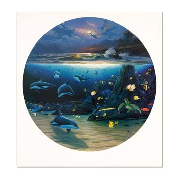 "Wyland, ""Moonlit Waters"" Limited Edition Lithograph, Numbered and Hand Signed with Certificate of Authenticity."