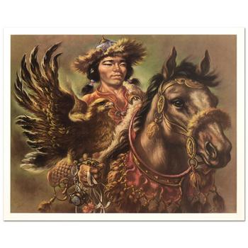 "Virginia Dan (1922-2014), ""Warrior"" Limited Edition Lithograph, Numbered and Hand Signed with Letter of Authenticity."