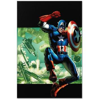 "Marvel Comics ""Captain America: Man Out Of Time #4"" Numbered Limited Edition Canvas by Bryan Hitch; Includes COA."