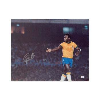 """Pele"" Print, Autographed by Legendary Brazilian Footballer, Pele."