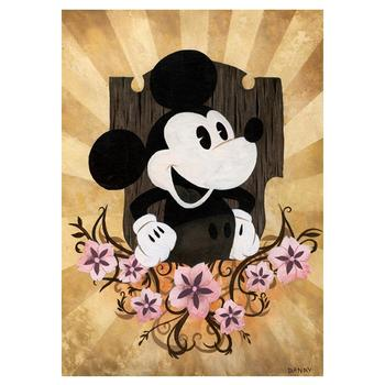 """The Mouse"" Embellished Limited Edition on canvas by Daniel Arriaga from Disney Fine Art; Numbered, Signed, with COA."