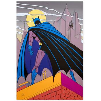 "Kane (1915-1998), ""Batman Over Gotham"" Extremely Rare Ltd Ed Original Lithograph, Numbered and Hand Signed with Cert."