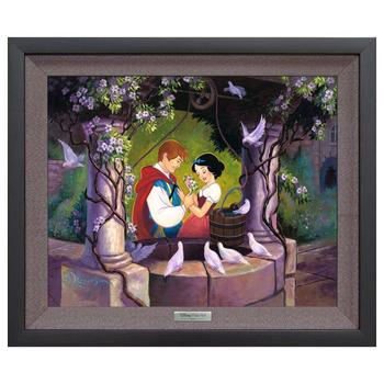 """The Wishing Well"" Framed Limited Edition Canvas by Tim Rogerson from the Disney Silver Series; with COA"