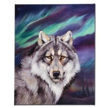 """Wolf Lights II"" Ltd Ed Giclee on Gallery Wrapped Canvas by Martin Katon, Numbered and Hand Signed."