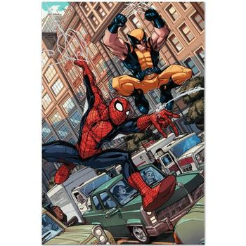 "Marvel Comics ""Astonishing Spider-Man & Wolverine #1"" Numbered Limited Edition Canvas by Nicholas Bradshaw; Includes COA."