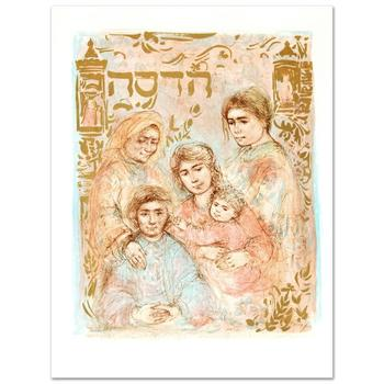 """Edna Hibel, """"Hadassah - The Generation"""" Limited Edition Lithograph, Numbered and Hand Signed with Certificate."""