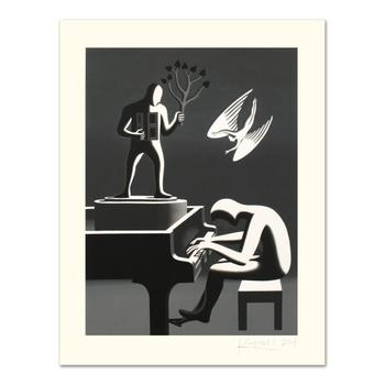 """Mark Kostabi, """"Cyclone Variations"""" Limited Edition Serigraph, Numbered and Hand Signed with Certificate."""