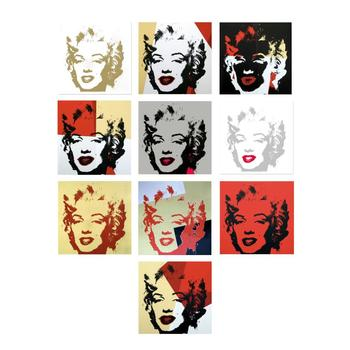 "Andy Warhol ""Golden Marilyn Portfolio"" Limited Edition Suite of 10 Silk Screen Prints from Sunday B Morning."