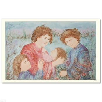"""Edna Hibel (1917-2014), """"Early Spring"""" LIMITED EDITION Serigraph, Numbered and Hand Signed with Certificate."""