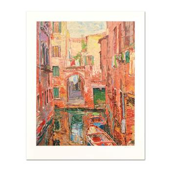 """Marco Sassone, """"Rio Secundo"""" Limited Edition Serigraph, Numbered and Hand Signed with Letter of Authenticity."""