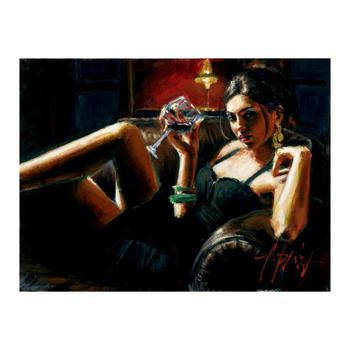 """Fabian Perez """"Tess VIII"""" Hand Embellished Limited Edition Canvas; Hand Signed, with COA."""