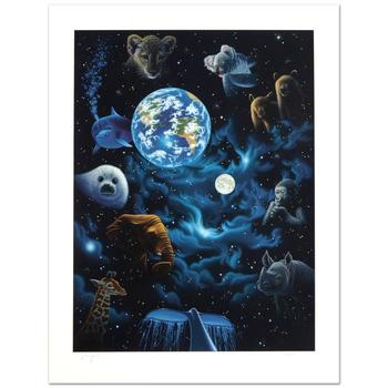 """William Schimmel, """"All the World's Children"""" Ltd Ed Serigraph, Numbered and Hand Signed with Certificate."""